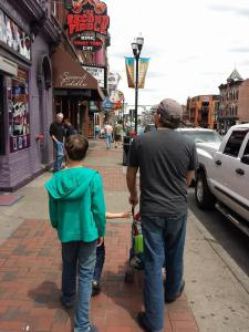 Here we are walking along Music Row in Nashville