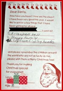 C-Dog's letter to Santa 2014