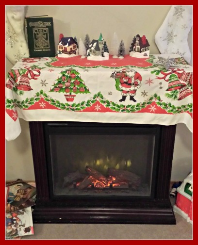 Next year I will work on decorating the fireplace.