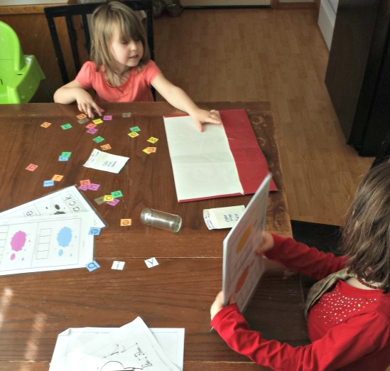 Elf decided to help Princess with her school. Sisters and friends. Princess is learning to spell her color words.